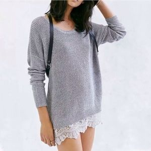 UO Pins & Needles Lacetrim Sweater